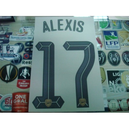 Official ALEXIS #17 Arsenal Away UCL CUP 2015-16 PRINT