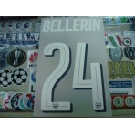 Official BELLERIN #24 Arsenal Home UCL CUP 2016-17 PRINT