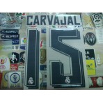 Official CARVAJAL #15 Real Madrid Home 2015-16 SPORTING ID PRINT