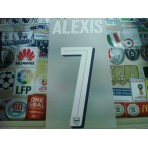 Official ALEXIS #7 Arsenal Home UCL CUP 2016-17 PRINT