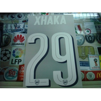 Official XHAKA #29 Arsenal Home UCL CUP 2016-17 PRINT