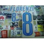 Official FLORENZI #8 Italy Away 2015-16 EURO 2016 PU PRINT