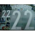 Official RASHFORD #22 England Away EURO 2016 2016-18 PRINT