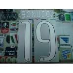 Official BONUCCI #19 Juventus Away 2016-17 STILSCREEN Name Number