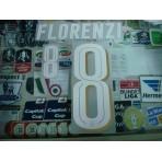 Official FLORENZI #8 Italy Home 2015-17 EURO 2016 PU PRINT