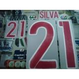 Official SILVA #21 Spain Away 2015-17 EURO 2016 PRINT
