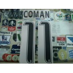 Official COMAN #11 Juventus Home 2015-16 STILSCREEN Name Number