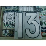 Official MULLER #13 Germany Away 2015-17 EURO 2016 PRINT