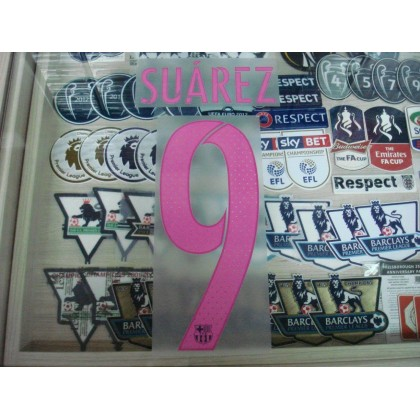 PLAYER ISSUE SUAREZ #9 Barcelona Away 2016-17 SIPESA PRINT