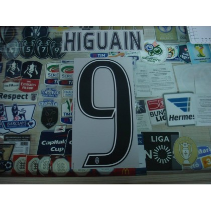 Official HIGUAIN #9 Juventus Home 2016-17 STILSCREEN Name Number