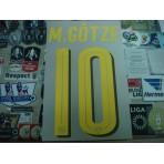 Official M.GOTZE #10 Borussia Dortmund Away 2016-18 PU PRINT