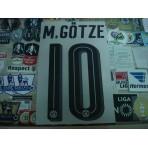 Official M.GOTZE #10 Borussia Dortmund HOME 2016-18 PU PRINT
