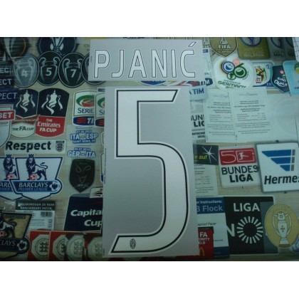 Official PJANIC' #5 Juventus Away 2016-17 STILSCREEN Name Number