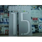 Official BARZAGLI #15 Juventus Away 2016-17 STILSCREEN Name Number