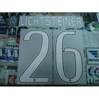 Official LICHTSTEINER #26 Juventus Away 2016-17 STILSCREEN Name Number
