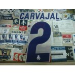 Official CARVAJAL #2 Real Madrid Home 2016-17 SPORTING ID PRINT
