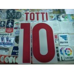 Official TOTTI #10 AS ROMA  Away 2015-16 STILSCREEN Name Number
