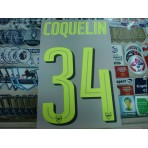 Official COQUELIN #34 Arsenal 3rd UCL CUP 2016-17 PRINT