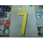 Official DEMBELE #7 Borussia Dortmund Away 2016-18 PU PRINT