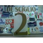 Official DE SCIGLIO #2 AC Milan Away 2016-17 Name Number