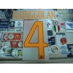 Official NAINGGOLAN #4 AS ROMA Home 2016-17 STILSCREEN Name Number