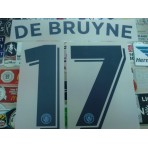 OFFICIAL DE BRUYNE #17 Manchester City Home UCL 2016-17 PRINT