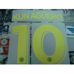 OFFICIAL KUN AGUERO #10 Manchester City Away UCL 2016-17 PRINT