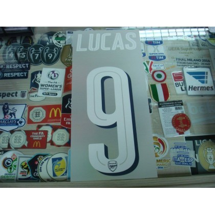 Official LUCAS #9 Arsenal Home UCL CUP 2016-17 PRINT