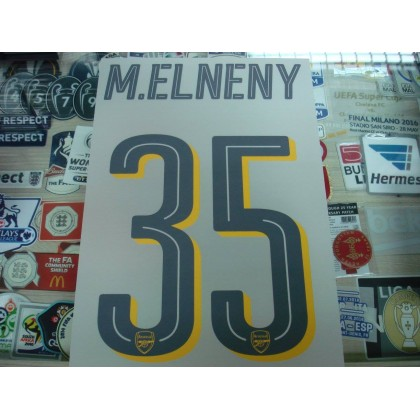 Official M.ELNENY #35 Arsenal Away UCL CUP 2016-17 PRINT