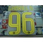 Official GABRIEL B. #96 Inter Milan Home 2016-17 STILSCREEN Name Number
