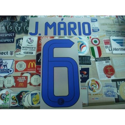 Official J.MARIO #6 Inter Milan Away 2016-17 STILSCREEN Name Number
