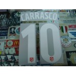 OFFICIAL CARRASCO #10 Atletico Madrid Home UCL 2016-17 PRINT