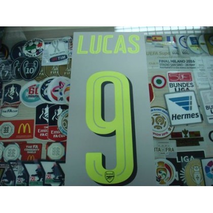 Official LUCAS #9 Arsenal 3rd CUP UCL 2016-17 PRINT