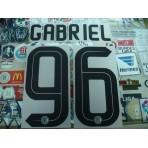 Official GABRIEL #96 Inter Milan 3rd 2016-17 STILSCREEN Name Number