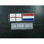 England Vs Holland 2012 Friendly Match Flag Print PU Detail