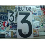Official HECTOR #3 Germany Home Confederation CUP 2017-18 PRINT