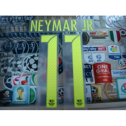 PLAYER ISSUE NEYMAR JR #11 Barcelona 3rd UCL 2016-17 SIPESA PRINT