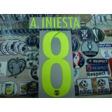 OFFICIAL A.INIESTA #8 Barcelona 3rd UCL 2016-17 SIPESA PRINT