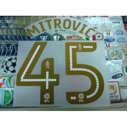 Official MITROVIC' #45 Newcastle Home EFL 2016-17 PRINT