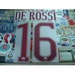 Official DE ROSSI #16 AS ROMA Away 2016-17 STILSCREEN Name Number