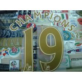 OFFICIAL PLAYER SIZE CHAMPIONS #19 GOLD EPL SENSCILIA PRINT