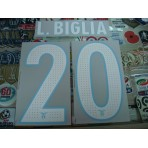 Official L.BIGLIA #20 SS LAZIO Home / Away  2016-17 Name Number