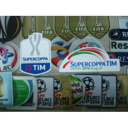 Official Italian CALCIO SUPERCOPPA TIM + DOHA 2016 JUVENTUS Patches