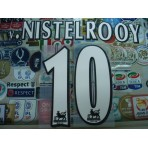 Official v.NISTELROOY #10 Manchester United Home WHITE FAPL 1997-2007 PLAYER SIZE SENSCILIA PRINT