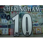 Official SHERINGHAM #10 Manchester United Home WHITE FAPL 1997-2007 PLAYER SIZE SENSCILIA PRINT