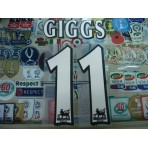 Official GIGGS #11 Manchester United Home WHITE FAPL 1997-2007 PLAYER SIZE SENSCILIA PRINT