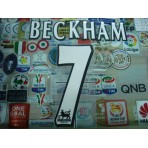 Official BECKHAM #7 Manchester United Home WHITE FAPL 1997-2007 PLAYER SIZE SENSCILIA PRINT