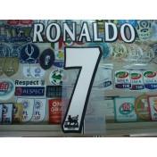 Official RONALDO #7 Manchester United Home WHITE FAPL 1997-2007 PLAYER SIZE SENSCILIA PRINT