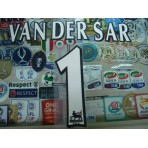 Official VAN DER SAR #1 Manchester United Home WHITE FAPL 1997-2007 PLAYER SIZE SENSCILIA PRINT