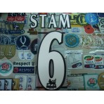 Official STAM #6 Manchester United Home WHITE FAPL 1997-2007 PLAYER SIZE SENSCILIA PRINT